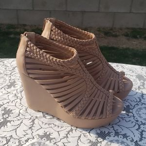 Torrid Shoes Nude Wedges Size 10W